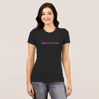 Bigotry-ist zum Kotzen T - Shirt/rosa Text T-Shirt