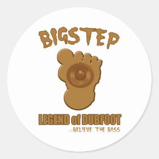 Bigstep Legende von Dubfoot LUSTIGER BIGFOOT Runder Aufkleber