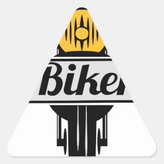 biker dreieckiger aufkleber