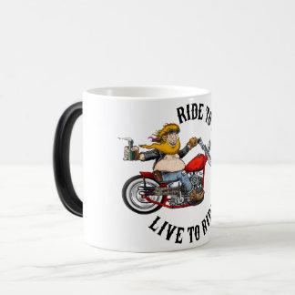 Biker FaltenMotorradfahrer lives to Verwandlungstasse