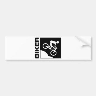 biker radfahrer bike mtb mountainbike downhill autoaufkleber