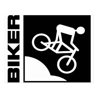 biker radfahrer bike mtb mountainbike downhill postkarte