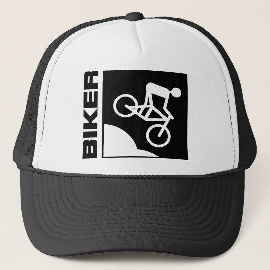 biker radfahrer bike mtb mountainbike downhill truckerkappe