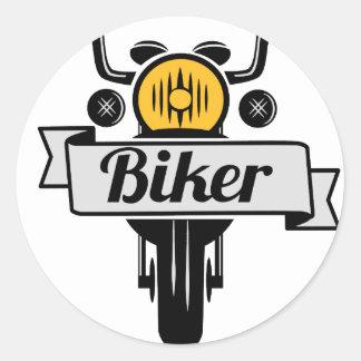 biker runder aufkleber