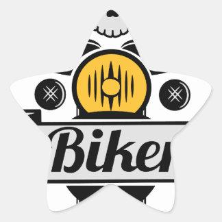 biker Stern-Aufkleber