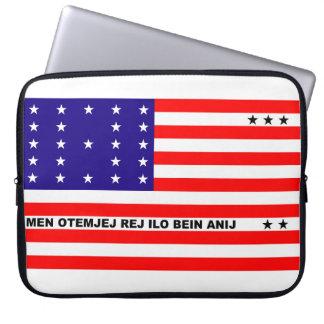Bikini-Atollflaggensymbol Laptopschutzhülle