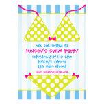 Bikini-Badeanzugswim-Pool-Party Einladungen