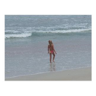 Bikini-Mädchen-Postkarte FL Daytona Beach Florida Postkarte