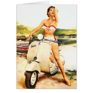 Bikini-Roller-Mädchen Karte