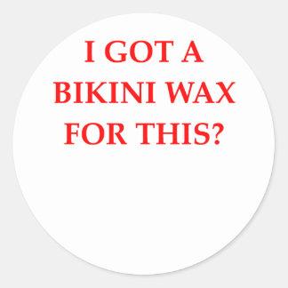 Bikiniwachs Runder Aufkleber