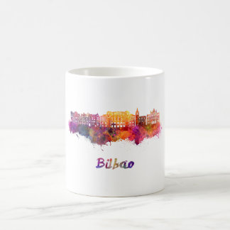 Bilbao skyline im Watercolor Kaffeetasse