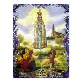 Bild der Erscheinung unsere Dame von Fatima Postkarte