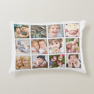 Bild der Familien-Foto-Collagen-zwölf Deko Kissen