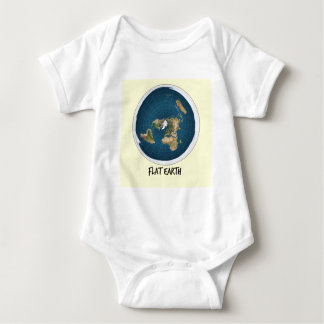 Bild der flachen Erde Baby Strampler