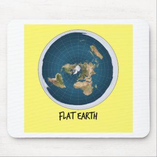 Bild der flachen Erde Mousepads