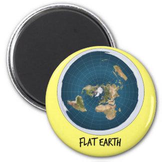 Bild der flachen Erde Runder Magnet 5,1 Cm
