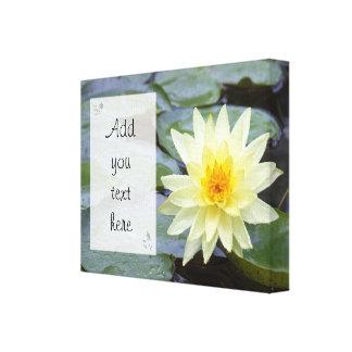Bild der gelben Lilie, Natur-Zitate Leinwanddruck