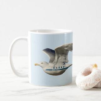 Bild der sehr seltenen Seemöwe-Fluglinien Kaffeetasse