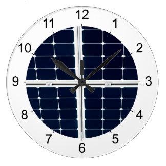 Bild der SolarPowerplatte lustig Große Wanduhr