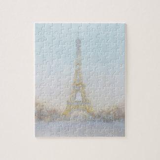 Bild des Aquarell-| von Eiffel Towe Puzzle