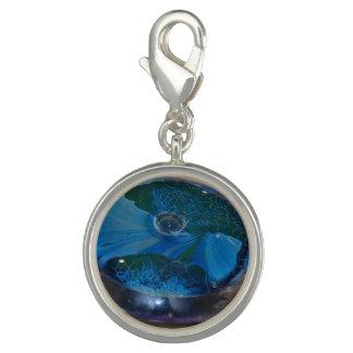 Bild des Schmuck-Charme-blauen und grünen Glases Charm
