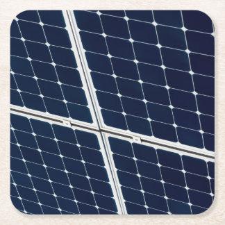 Bild einer SolarPowerplatte lustig Rechteckiger Pappuntersetzer