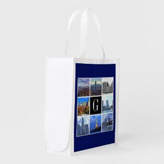 Bild-Foto-Collage New York Cityskyline-8 Wiederverwendbare Tragetasche