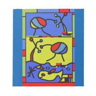 Bild mit Fisch-moderner Kunst Notizblock