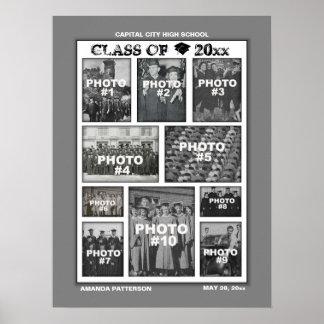 Bild-Plakat der Abschluss-Foto-Collagen-10 Poster