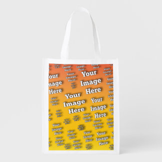 Bild-Schablone Wiederverwendbare Einkaufstasche