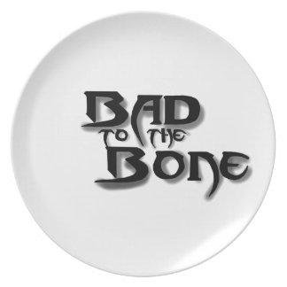Bild, schlecht zum Knochen Melaminteller