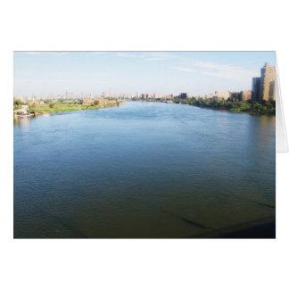 Bild vom Nil in Kairo, Ägypten Karte