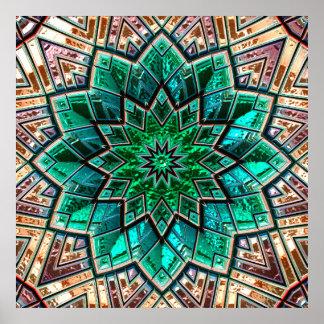 Bild-Wahl-Plakate der Kaleidoskop-Kunst-40A-40B