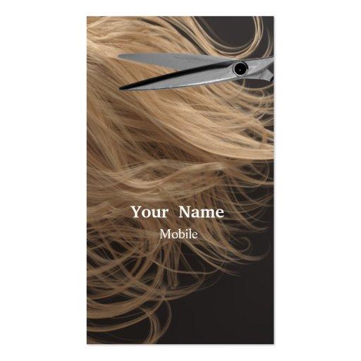 Bilden Sie Künstler - Haar-Stylisten Visitenkarten Vorlage