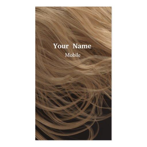 Bilden Sie Künstler - Haar-Stylisten Visitenkartenvorlagen