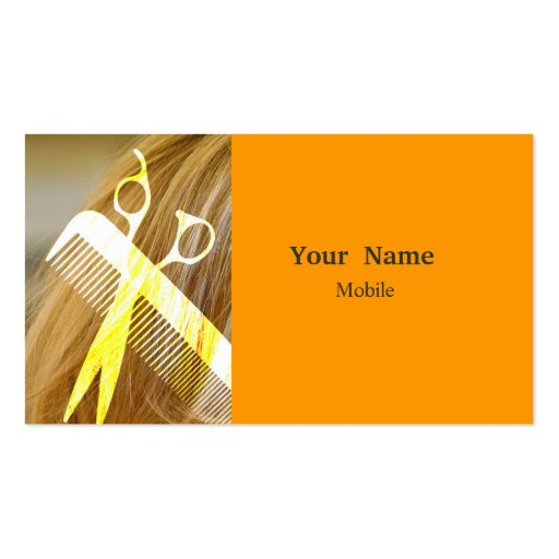 Bilden Sie Künstler - Haar-Stylisten Visitenkarte