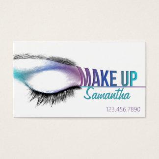 Bilden Sie Künstler-Visitenkarte Maskenbildner Visitenkarte