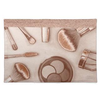 Bilden Sie Sammlung in den Bronzetönen Tischset