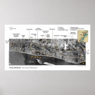 Bilder des Kampfes von Stalingrad im Zweiten Poster