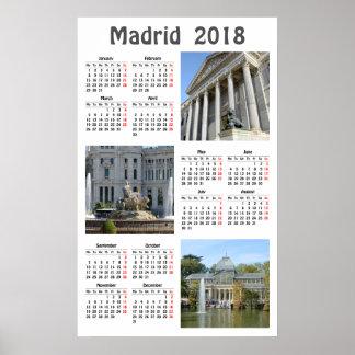 Bilder von Kalender Madrids 2018 Poster