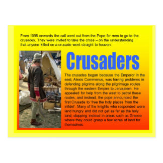 Bildung, Geschichte, mittelalterliche Kreuzfahrer Postkarte