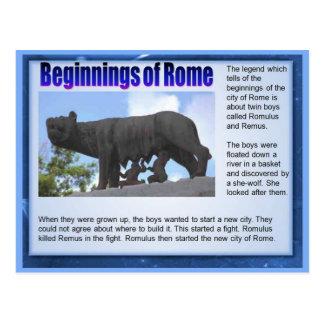 Bildung, Geschichte, Römer, Anfänge von Rom Postkarte