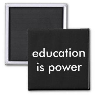 Bildung ist Power Quadratischer Magnet