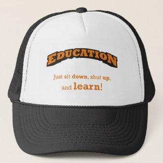 Bildung - lernen Sie Truckerkappe