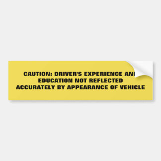 Bildung und Erfahrung Autoaufkleber