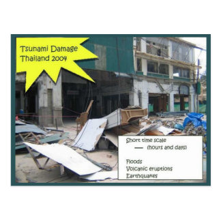Bildung, Wissenschaft, Wetter, Tsunami-Schaden Postkarte