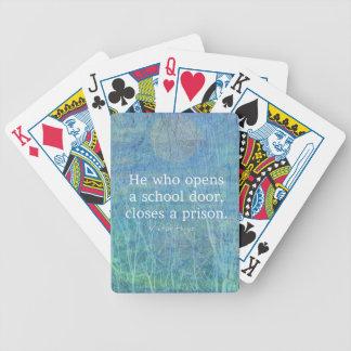 Bildungslehrer-Unterrichtszitat Victor Hugo Bicycle Spielkarten