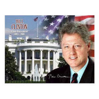 Bill Clinton - 42. Präsident der US Postkarte