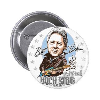 Bill Clinton politisches Rockstar! Knopf Runder Button 5,7 Cm
