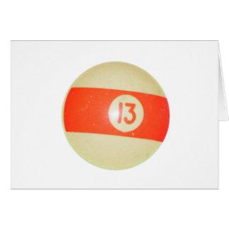 Billard-Ball #13 Karte